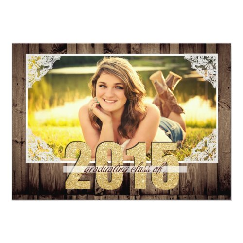 "Country 2015 Graduation Announcement 5"" X 7"" Invitation Card"