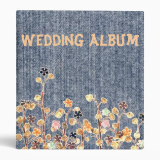 Country 2 Denim Wedding Album 3 Ring Binder
