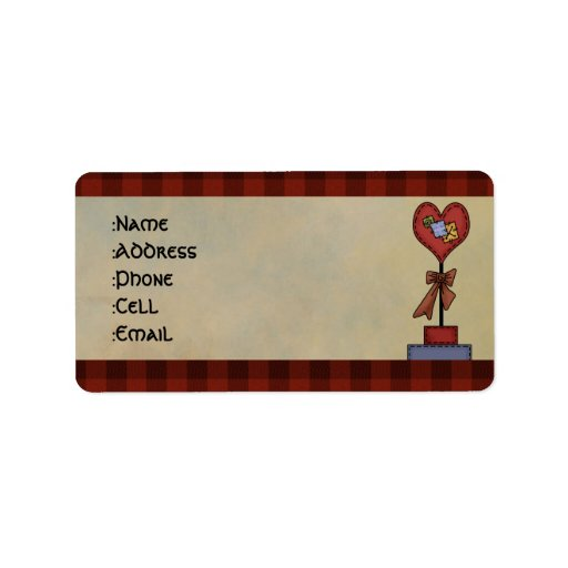 Country address labels