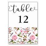 Country Affair Table Number Card