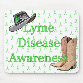 Country and Western Cowboy Hat Lyme Mouse pad