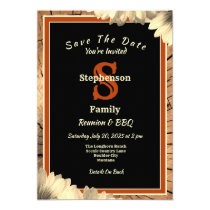 Country and Western Rustic Theme Reunion BBQ Invitation