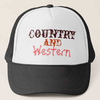 country and western trucker hat