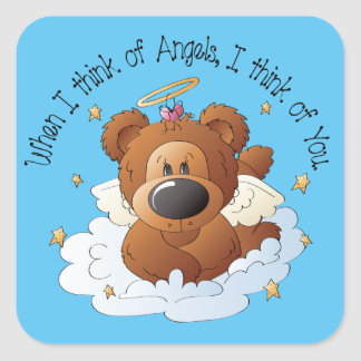 Country Angel Bear inspirational sticker