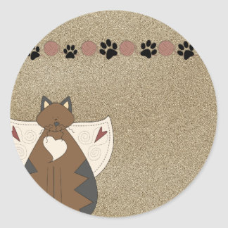 Country Angel Cat :: Stickers