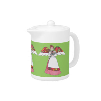 Country Angel (Red) Teapot