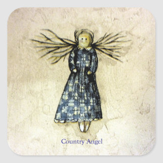 Country Angel Square Sticker