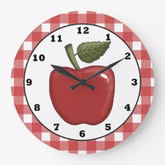 Country Apple cartoon kitchen wall clock