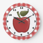 Country Apple cartoon kitchen wall clock