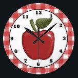"Country Apple cartoon kitchen wall clock<br><div class=""desc"">design by Trina Clark at www.digiscrapkits.com back by Alice Smith at www.digiwebstudio.com</div>"