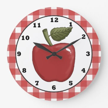 doodlesgifts Country Apple cartoon kitchen wall clock