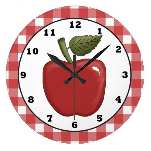 Country Apple cartoon kitchen wall clock Wallclock