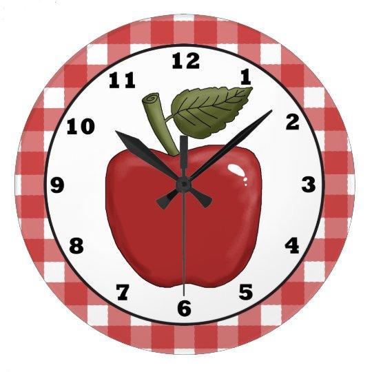 Country Apple Cartoon Kitchen Wall Clock Zazzle Com