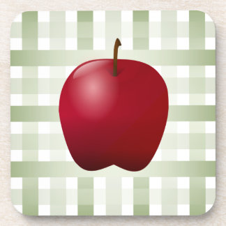 Country Apple with Green Plaid Coaster