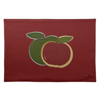 Country Apples (cranberry) Placemat