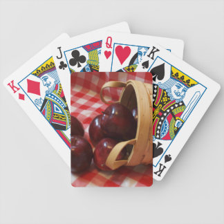Country Apples on a Checkered Tablecloth Bicycle Playing Cards