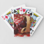 Country Apples on a Checkered Tablecloth Card Decks