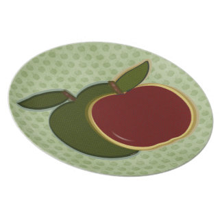 Country Apples Plate (sage)