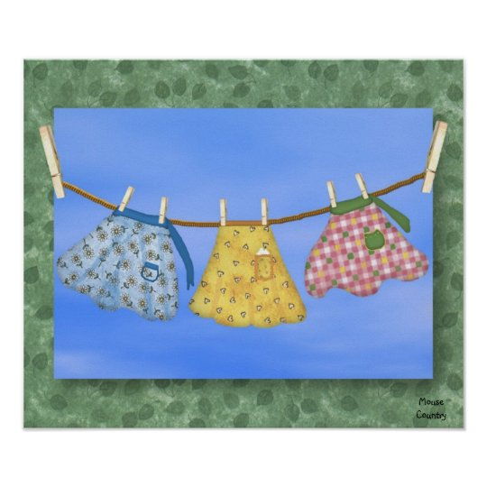 Country Aprons Poster