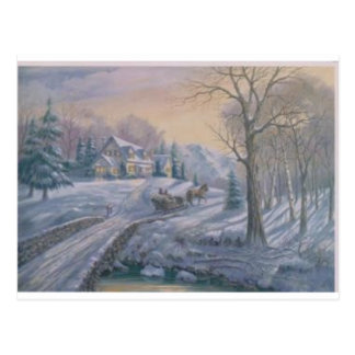 country  art postcard