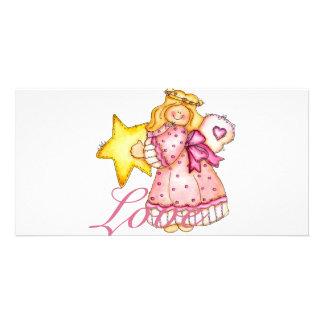 Country Art Star Girl - Love Card