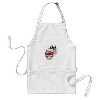 Country Art Tomatoes and Grape Juice Adult Apron