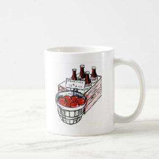 Country Art Tomatoes and Grape Juice Coffee Mug