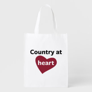 Country at Heart Grocery Bag
