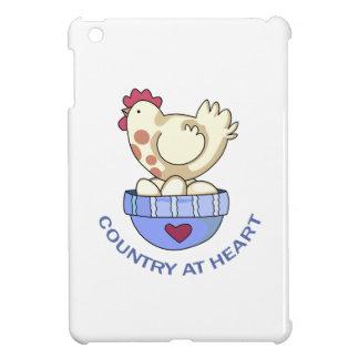 COUNTRY AT HEART HEN iPad MINI CASES