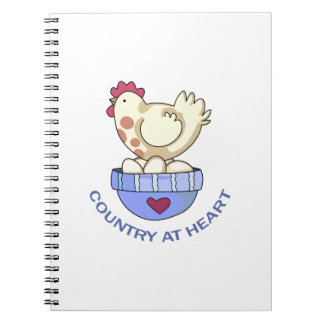 COUNTRY AT HEART HEN SPIRAL NOTEBOOK