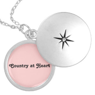 Country At Heart Round Locket Necklace