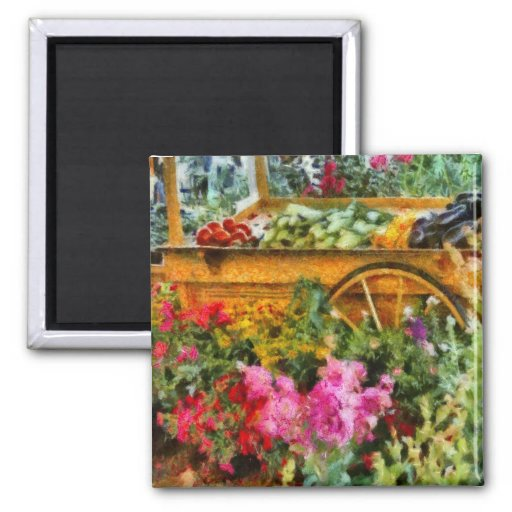 Country - At the farmers market Refrigerator Magnet