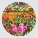 Country - At the farmers market Round Sticker