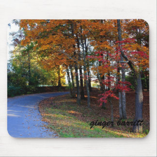 Country Autumn Lane Mouse Pad