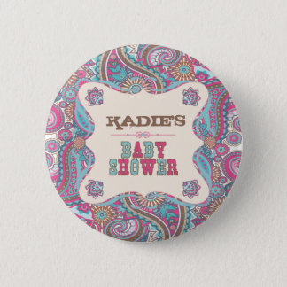 Country Baby Shower Button