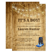 Country Baby Shower Invitation for boy