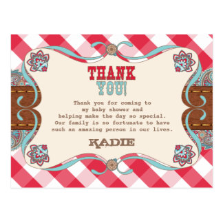Country Baby Shower, Thank You Cards