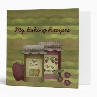 Country Baker Vinyl Binder