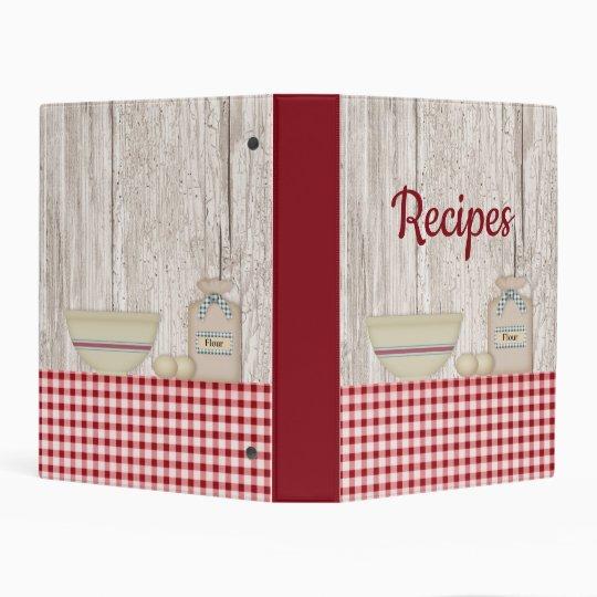 country baking avery mini recipe binder zazzle com