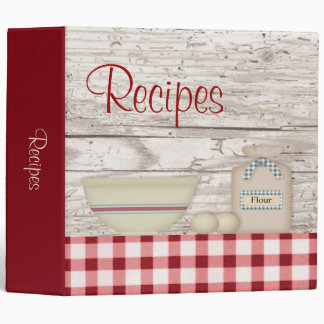 "Country Baking Recipe Binder (2"")"