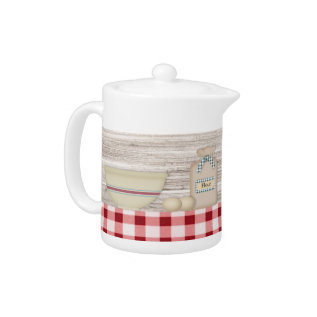 Country Baking Teapot at Zazzle