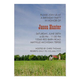 Country Barn Birthday Party Card