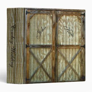 Country Barn Doors Cowboy Wedding Binder