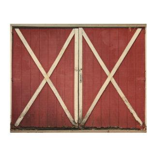 Country Barn Doors Wood Wall Decor