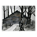 country barn historic vintage art post cards