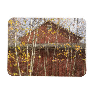 Country Barn In Autumn Magnet