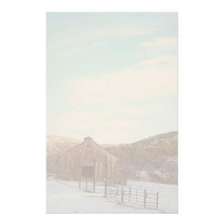 Country Barn in Snow Stationery