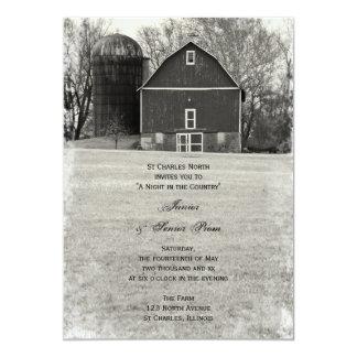 """Country Barn Junior / Senior Prom Invitations 5"""" X 7"""" Invitation Card"""