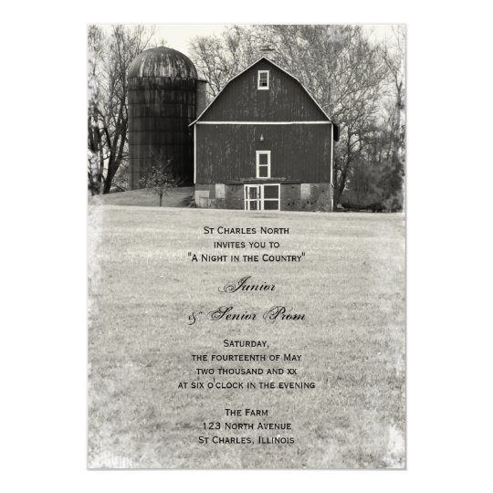 Country Barn Junior / Senior Prom Invitations