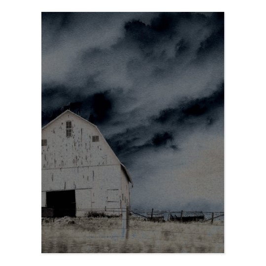 Country Barn Postcard
